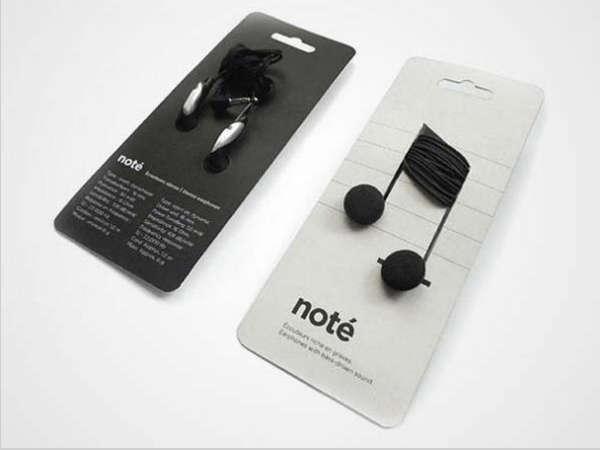 25个极具创意的产品包装设计欣赏-音乐符号耳机包装