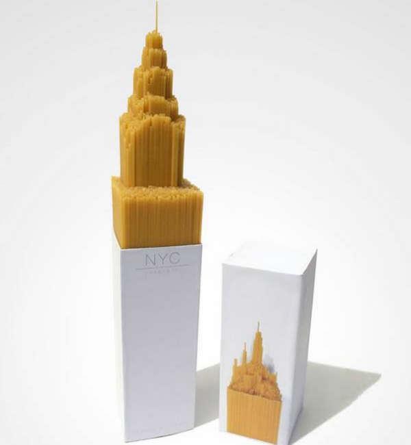 25个极具创意的产品包装设计欣赏-纽约城市造型的意大利面