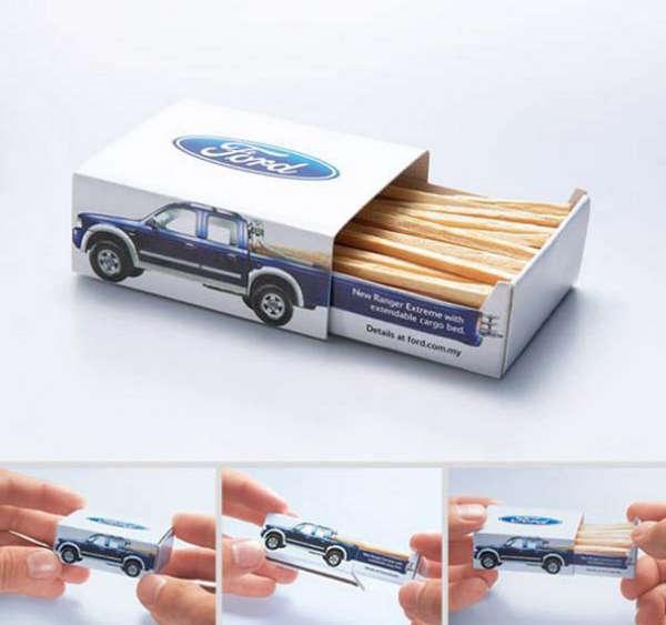 25个极具创意的产品包装设计欣赏-福特汽车火柴盒包装