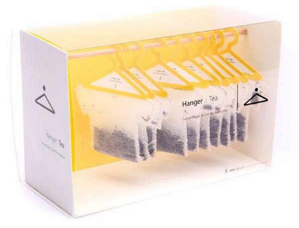 25个极具创意的产品包装设计欣赏-衣架式茶叶包装