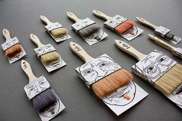 25个极具创意的产品包装设计欣赏-胡须刷子包装设计