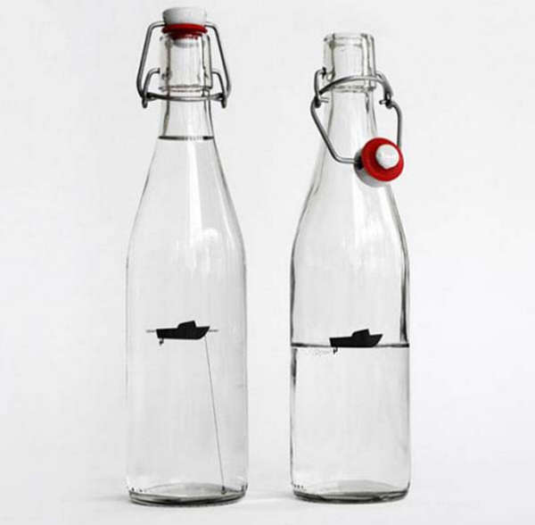 25个极具创意的产品包装设计欣赏-钓鱼船水瓶包装