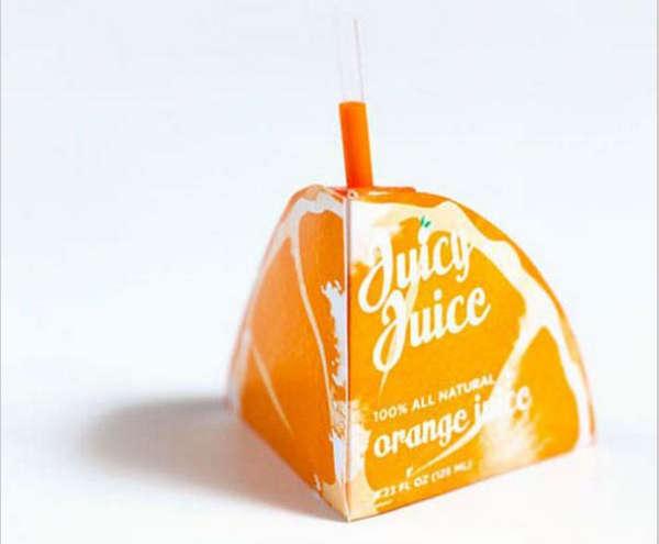 25个极具创意的产品包装设计欣赏-橙汁饮料包装