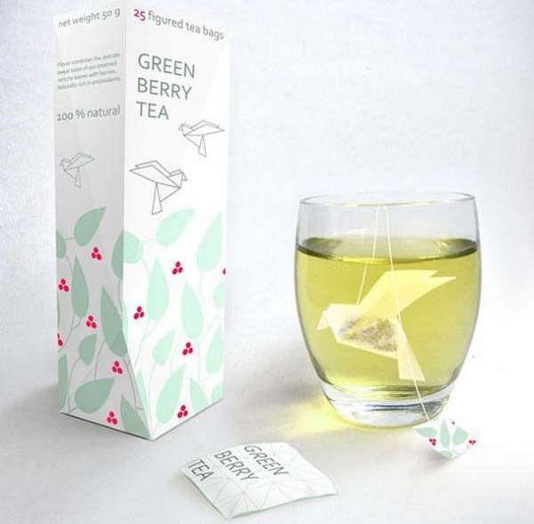 25个极具创意的产品包装设计欣赏-折纸式泡茶包装