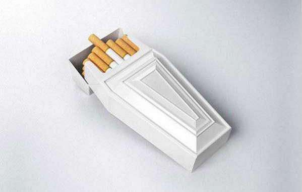 25个极具创意的产品包装设计欣赏-棺材式香烟盒包装