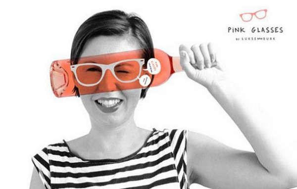 25个极具创意的产品包装设计欣赏-眼镜式葡萄酒包装