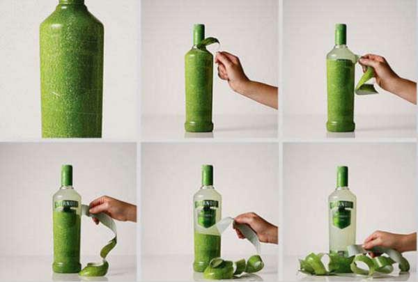 25个极具创意的产品包装设计欣赏-可以剥皮的饮料瓶设计