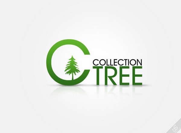 15个有关树的绿色环保LOGO标识设计欣赏1
