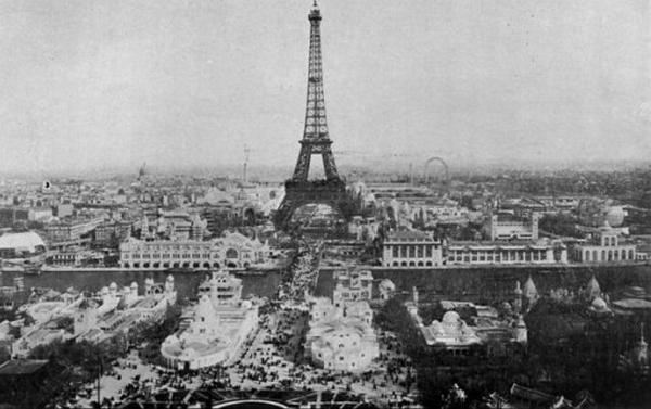 世界景观之城市的时代变迁图集-法国巴黎1900年