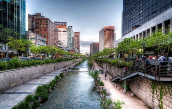 世界景观之城市的时代变迁图集-韩国首尔2013年