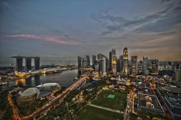 世界景观之城市的时代变迁图集--新加坡2011年