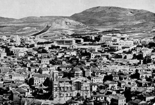 世界景观之城市的时代变迁图集-希腊雅典1860年