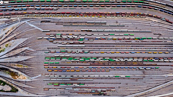 29张太空中的卫星拍摄的地球照片-美国,佐治亚州,亚特兰大,英曼场