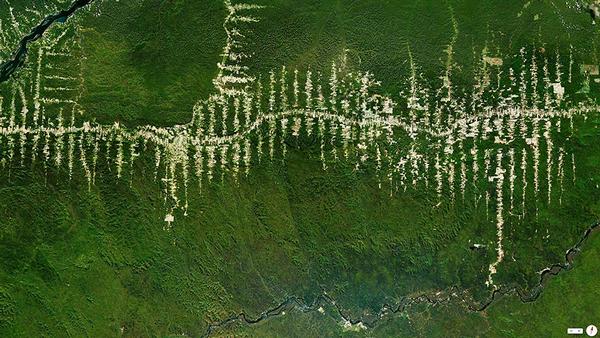 29张太空中的卫星拍摄的地球照片-巴西,帕拉,亚马逊热带雨林区