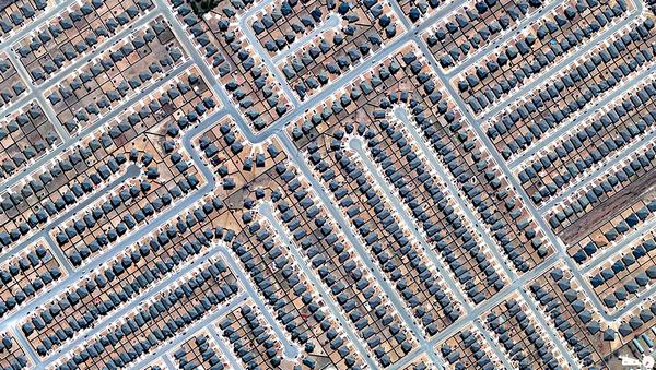 29张太空中的卫星拍摄的地球照片-美国,德克萨斯州,基林住宅区