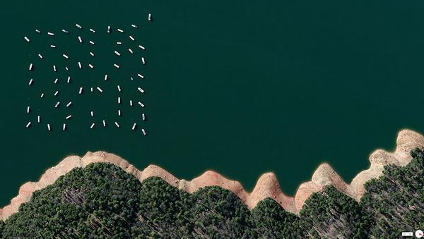 29张太空中的卫星拍摄的地球照片-加利福尼亚,浴霸县Bullards水库