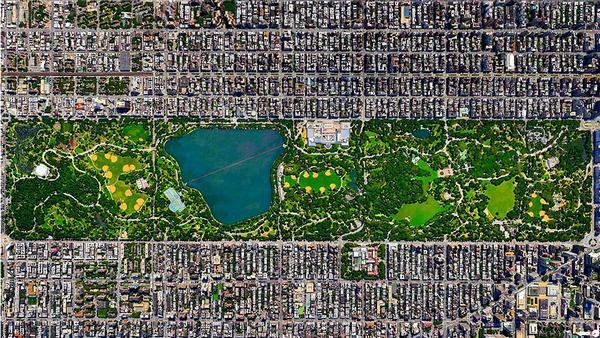 29张太空中的卫星拍摄的地球照片-美国,纽约州,纽约市中央公园