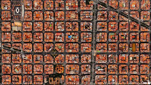 29张太空中的卫星拍摄的地球照片-西班牙,巴塞罗那