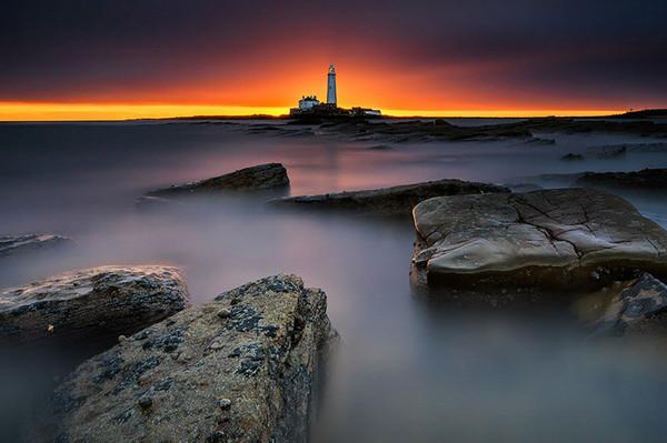 28个世界上久经考验的灯塔建筑,英国,诱饵岛,圣玛丽灯塔