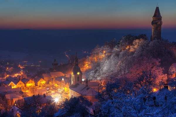 30个世界上冬天里最美丽的城镇,捷克斯特拉姆