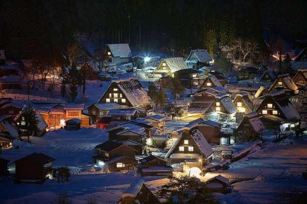 30个世界上冬天里最美丽的城镇,日本白川乡