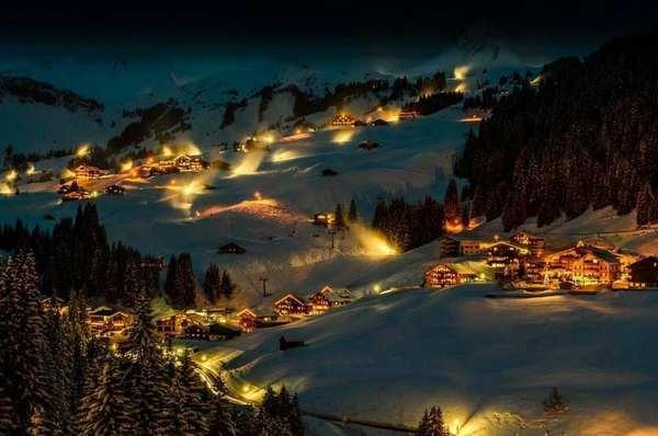 30个世界上冬天里最美丽的城镇,奥地利达米尔斯