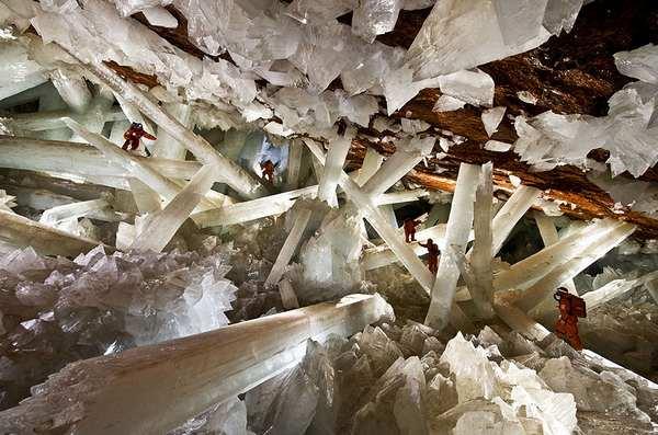 探索世界上最美丽的幽冥洞穴,墨西哥奈卡水晶洞