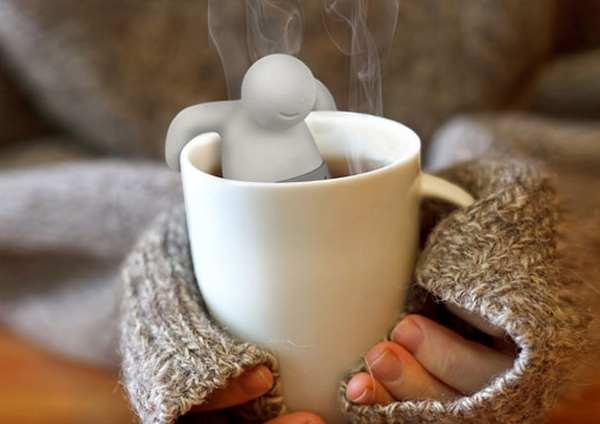 20个超有创意的泡茶用具,茶包器