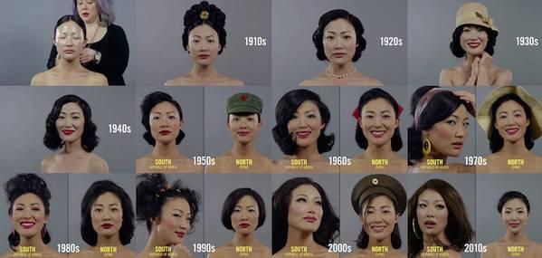 朝鲜和韩国女性美容百年变迁史2