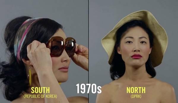 朝鲜和韩国女性美容百年变迁史1970年