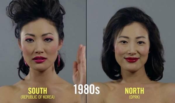 朝鲜和韩国女性美容百年变迁史1980年