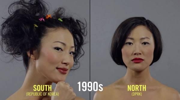 朝鲜和韩国女性美容百年变迁史1990年