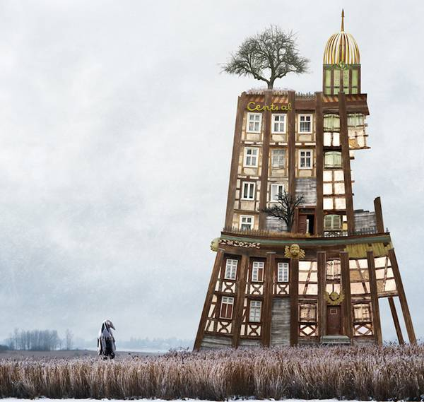 Matthias Jung 异想天开的建筑拼图艺术4