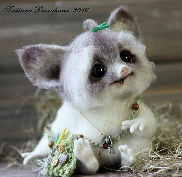 Tatiana Barakova 仿真羊绒玩具雕塑艺术5