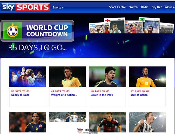 2014巴西足球世界之国外足球媒体推荐-skysports
