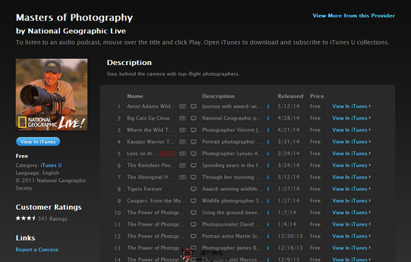 6个在线数码摄影技巧课程视频推荐-iTunes大学 - 摄影大师
