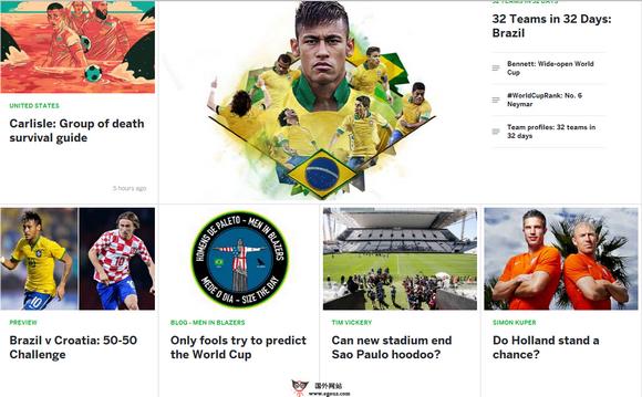 2014巴西足球世界之国外足球媒体推荐-espnFC
