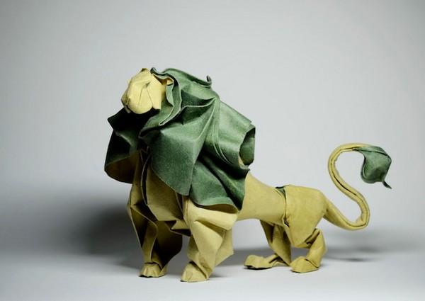 湿折式狮子折纸