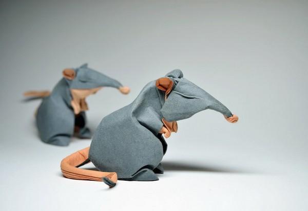 湿折式老鼠折纸