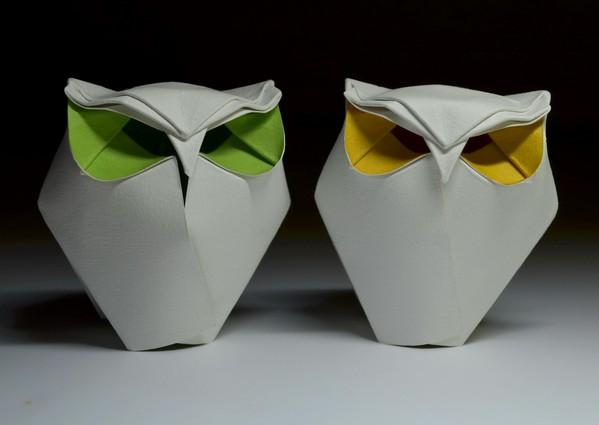湿折式猫头鹰折纸