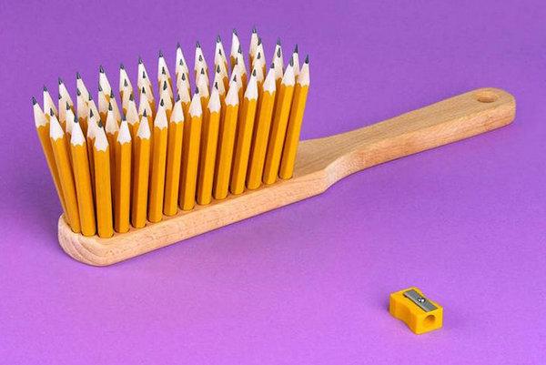 Martin Roller 日常用品混搭艺术集,铅笔,刷子
