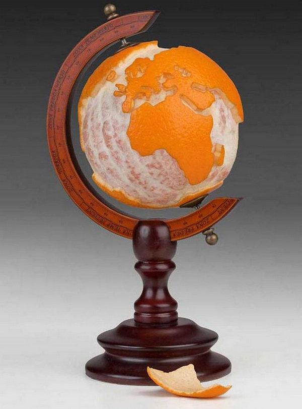 Martin Roller 日常用品混搭艺术集,桔子,地球仪