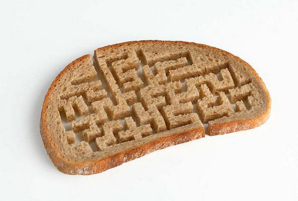 Martin Roller 日常用品混搭艺术集,面包,迷宫