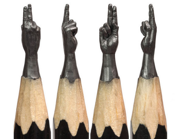 Salavat Fidai 铅笔上的雕刻艺术集