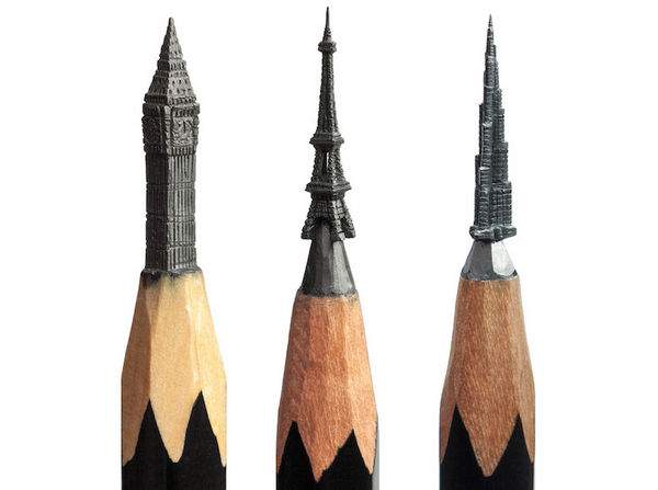 Salavat Fidai 铅笔上的雕刻艺术集2