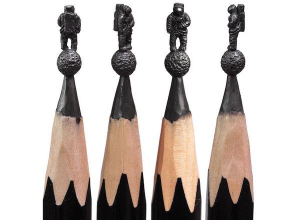 Salavat Fidai 铅笔上的雕刻艺术集3
