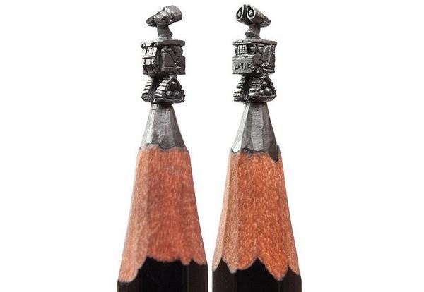 Salavat Fidai 铅笔上的雕刻艺术集4