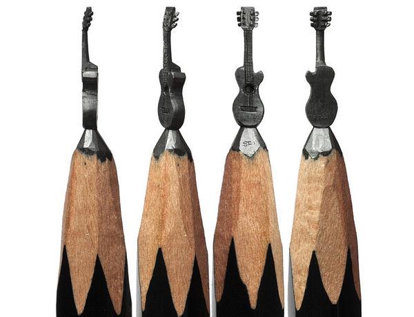 Salavat Fidai 铅笔上的雕刻艺术集5