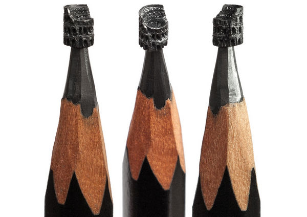 Salavat Fidai 铅笔上的雕刻艺术集6