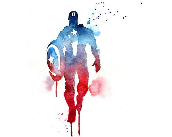 Blule:超级英雄水彩画集-美国队长